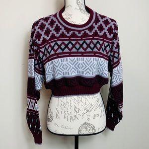 Vintage Towncraft Bellsleeve Cropped Sweater